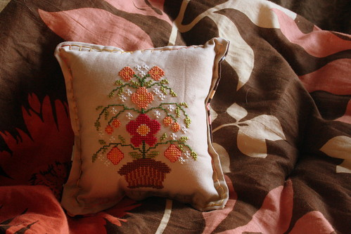 Folk Art Flower Pillow