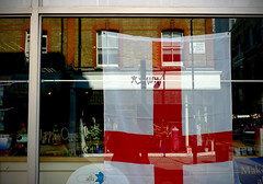 St.George flag 8 (house of bamboo) Tags: red england white english proud bar restaurant flying cross display flag pride national cheer worldcup van multicultural stgeorge hung redandwhite 2010 nationalistic chant comeonengland footballfifa