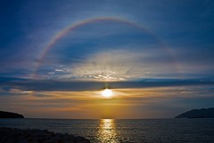 Let There Be Light... And Let's Top It Up With A Rainbow... (Ammar Eu) Tags: sunset sea sun water clouds canon landscape rainbow scenery parhelion 1855mm langkawi polarizer soe sundog nd8 cplfilter eos450d platinumphoto flickraward flickraward5 flickrawardgallery
