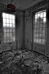 On the go (Lens_Flaire) Tags: uk bw abandoned window canon hospital eos insane decay wheelchair eerie creepy spooky forgotten mad asylum wp commode ue urbex lunaticasylum 550d westparkasylum trspass