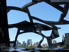 Skyline through Sculpture (Trish Mayo) Tags: newyork manhattan metropolitanmuseum metropolitanmuseumofart rooftopgarden blueribbonwinner supershot