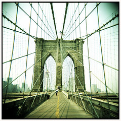 On Kojaks traces #4 (Thomas Solecki) Tags: bridge usa newyork colour brooklyn holga kodak toycamera portra impressedbeauty
