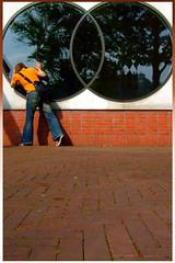 day 48 - binoculars (dear*eric) Tags: selfportrait reflection tree brick window amsterdam wall circle 365days