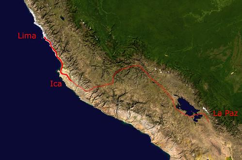 Lima-LaPaz via Ica