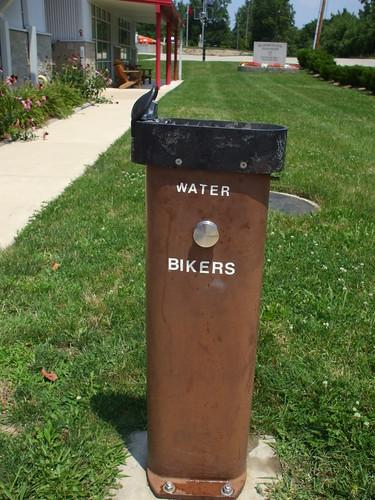 Water ... bikers