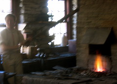 fanning the fire (ecormany) Tags: historic blacksmith fortsnelling