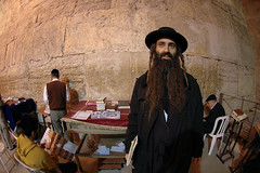 Jerusalem, Old City - Kotel (Sam Rohn - 360 Photography) Tags: travel beard israel interesting ancient peace nikond70 palestine jerusalem paz fisheye jewish pax judaism nikkor oldcity hasidic paix chasidic westernwall jewishquarter alquds kotel locationscouting locationscout 105mmf28gfisheye samrohn locationscouts top20jewish nylocationscom