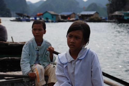 Kids in Ha Long Bay