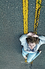 Abandon: Gravity (Chromojenic) Tags: road portrait woman girl highway dcist asphalt rgor lambentquireportraiture lambentquire