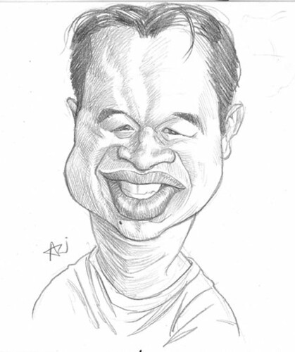 My caricature by Ariel Medel