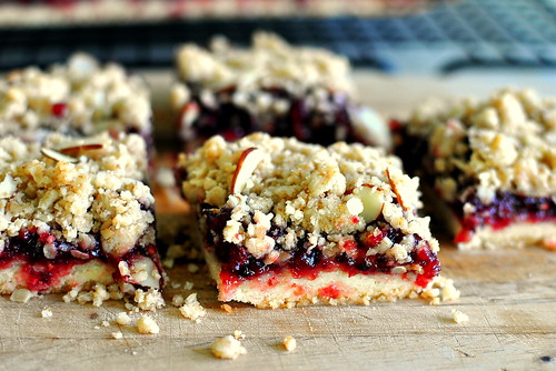 Triple-Cherry Streusel Bars