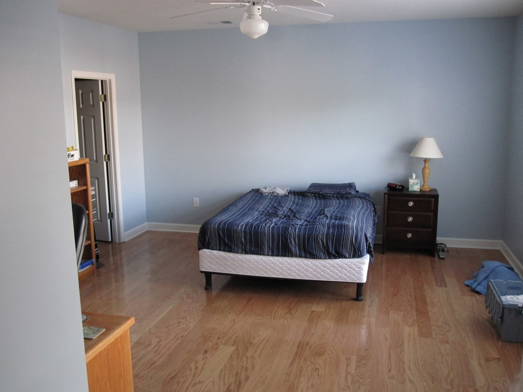 Master bedroom wood flooring