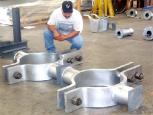 "24"", Chrome-Moly, Three-Bolt Clamps with Stanchions"