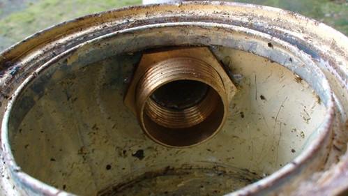 Bagian dalam Kompor Biogas dari kaleng bekas