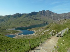First view of Llyn Lydaw from the Pyg Track Photo