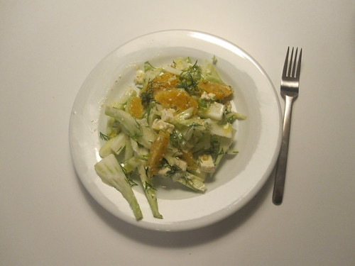 fennel, feta, dill and orange salad