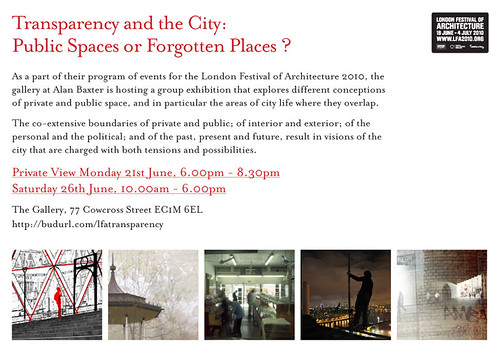 Invitation - Transparency and the City