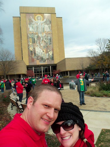Touchdown Jesus! Notice the fools in the background having their token TDJ photos taken.
