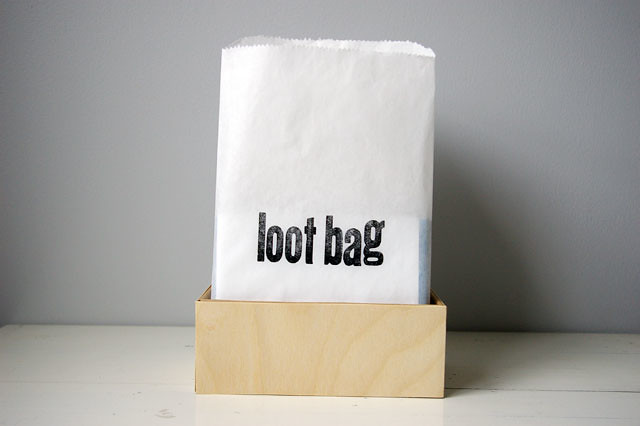 loot bag (no peeking!)