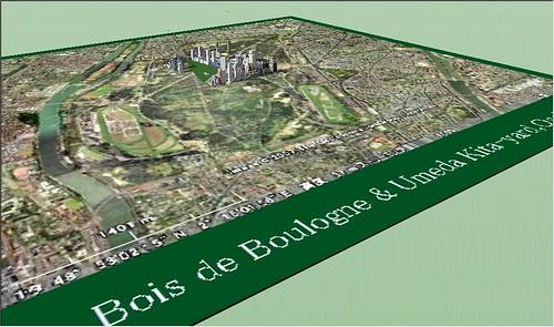 Google SkttchUp Bois de Boulogne & Umeda Kita-yard,Osaka-1