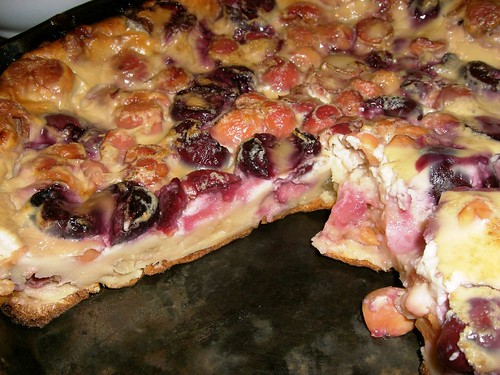 Black & Sour Cherry Clafouti