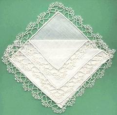 puntina per fazzoletto bianca