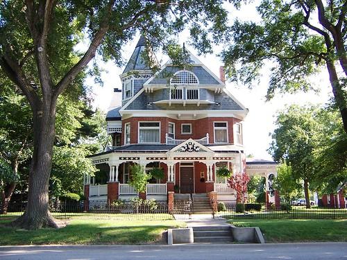 victorian house. IL Brick Victorian House