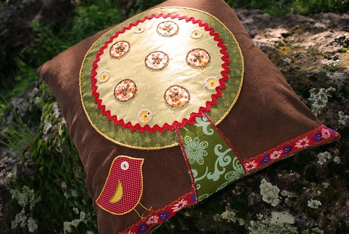 corduroy embroidered pillow 2
