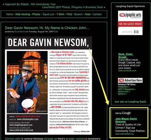 Gavin Ad on Chicken Ad