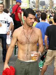 WC 2006 Sweden - Paraguay. (AFIK  BERLIN) Tags: shirtless hairy hot berlin men football muscular soccer manly handsome guys charming multicultural guapos ragazzi shabab  tos  fifaworldcupgermany2006 fanmile fanmeileberlin strasse17juni fusballweltmeisterschaft2006