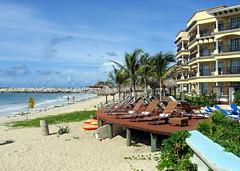 Beach (geog) Tags: ocean beach mexico hotel resort elcid quintanaroo