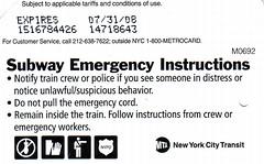Instrucciones de emergencia en el Metro