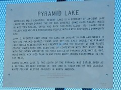 Pyramid Lake (Pink Pepper Photo) Tags: blue summer sky lake mountains water rock desert pyramid nevada august sage burningman highdesert tufa 2007 rabbitbrush pyramidlake tufarock anahoisland