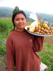 Balinese fruit seller near Bedugal Bali (balilogue) Tags: bali bedugal candikuning balinesefruitseller balihighlands