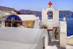 Oia Chapel - by Wolfgang Staudt