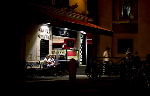 by the light of the gelaterie