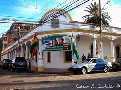 Santa Cruz de la Sierra. Bolivia. Centro de la ciudad. Cruceñometro