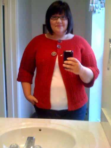 The February Lady Sweater is DONE and I'm wearing it to my class today @SewCrafty!!!