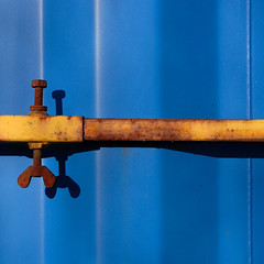 composition in blue with yellow, rust and shadows (Werner Schnell Images (2.stream)) Tags: blue shadow yellow composition rust werner ws schnell platinumphoto theunforgettablepictures wernerschnell wernerschnellimages