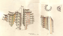 Romeo & Julia, Hans Scharoun (Flaf) Tags: colour water pencil concrete stuttgart drawing hans moderne 1950s florian residential scharoun strase nachkriegsmoderne afflerbach zuffenhauser schorzacher