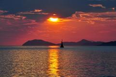 Dramatic Descent (our cultural archive) Tags: sunset water islands coast adriatic cate dalmatia copenhaver cavtatcroatia