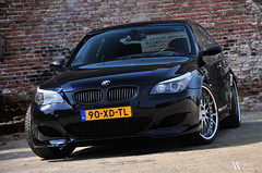 BMW M5 (Bart Willemstein) Tags: auto brick cars haarlem netherlands car wall graffiti nikon photoshoot nederland automotive bmw bling carbon nikkor fiber rims tuning m5 v10 kevlar fotoshoot e60 gpower hartge stoptech bartw d300s autogespot autogespotcom bartwillemsteinnl