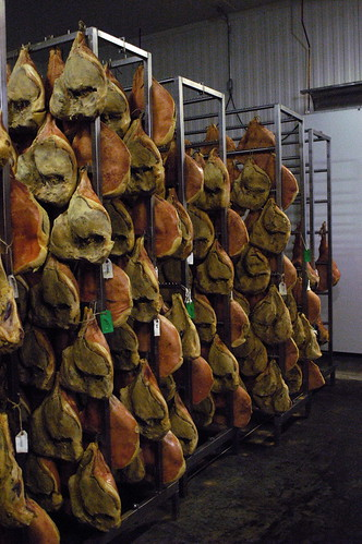 wall of prosciutto
