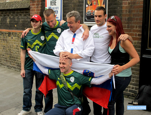 Slovenian football fans, London