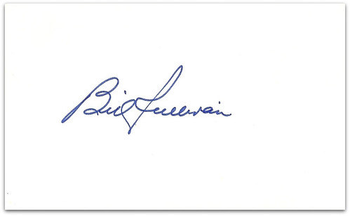 Billy Sullivan autographed index card