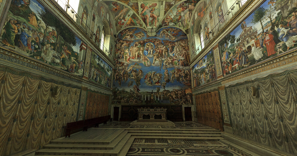 Sistine Chapel facing the altar