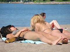 two ladies 1 (petezpan) Tags: girls party vacation sun beach finland john mom helsinki goodbye visiting tanning hietaniemi ead
