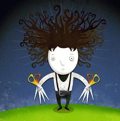 edward scissorhands (medialunadegrasa) Tags: illustration tim edward scissorhands burton juancarlos