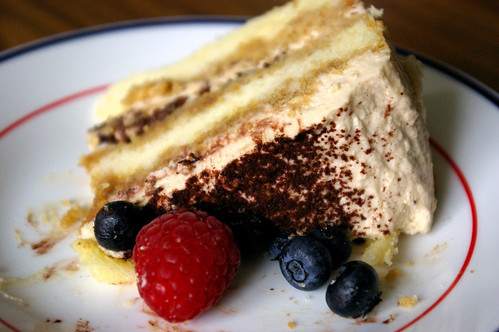 A slice of  my Tiramisu cake