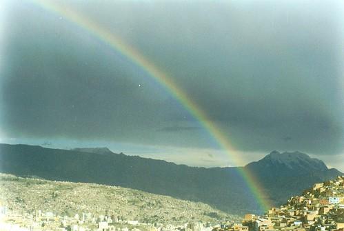 Rainbow over La Paz